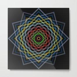 Colorful Geometric Pattern V Metal Print