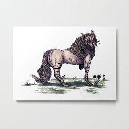 Wolf Princess Metal Print