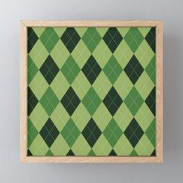 Argyle greens Framed Mini Art Print