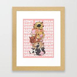 Cowpile Framed Art Print