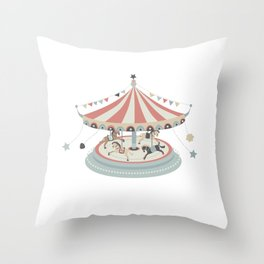 Toy Collection #1 Carrousel Throw Pillow