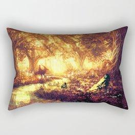 Ashitaka and the Tree Spirits Rectangular Pillow