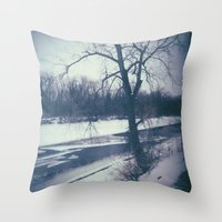 indiana Throw Pillows featuring Indiana by Mt Zion Press