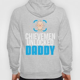 New Dad Gift Achievement Unlocked Dad Present for First Time Dad Hoody