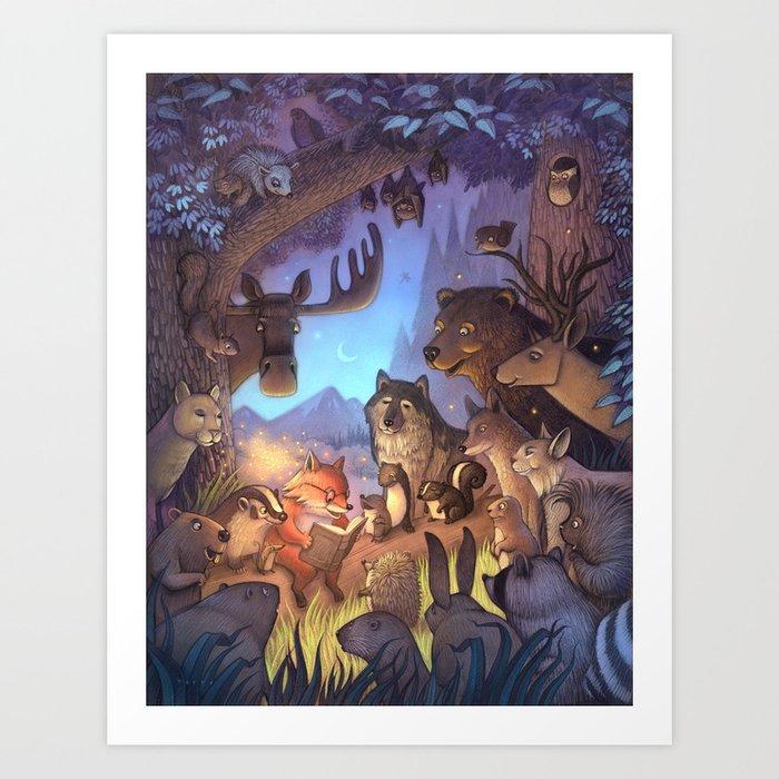 Forest Story / illustration Art Print