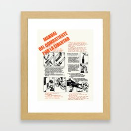 The Freedom Fighters Manual (for light T's) Framed Art Print