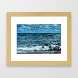 Rocks And Foam Framed Art Print