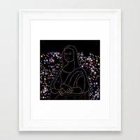 mona lisa Framed Art Prints featuring Mona Lisa by Ornaart