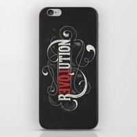 revolution iPhone & iPod Skins featuring Revolution by Mobe13