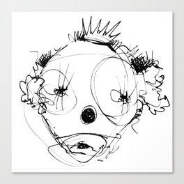 Clowns in Crowns #4 Canvas Print