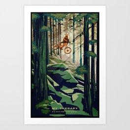 MY THERAPY MOUNTAIN BIKE POSTER Art Print