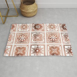Talavera Mexican Tile – Rose Gold Palette Rug