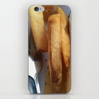 fries iPhone & iPod Skins featuring Fries by Wild World Of Food