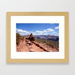 Grand Canyon Cowboy Framed Art Print