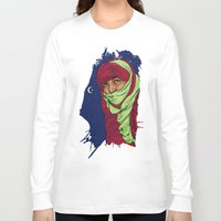 palestine Long Sleeve T-shirts featuring SAHARA LIBRE by Thekrakenshirt
