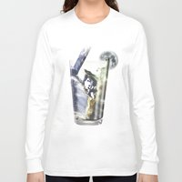 cocktail Long Sleeve T-shirts featuring Space Cocktail by AkuMimpi