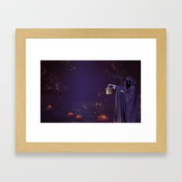 A Witch in the Woods Framed Art Print
