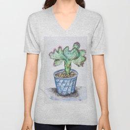 Euphorbia Lactea Cactus Unisex V-Neck