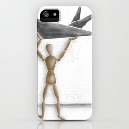 Man With Triangles - Grey iPhone Case