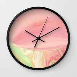 Complicated Pink to Peach to Green Wall Clock