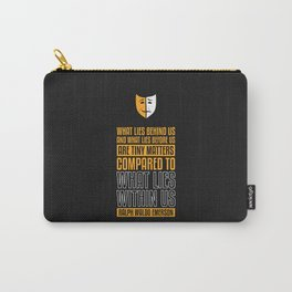 Lab No. 4 What Lies Behind Us Ralph Waldo Emerson Life Inspirational Quote Carry-All Pouch