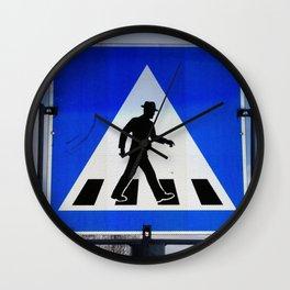 Well Dressed Man Crossing Wall Clock