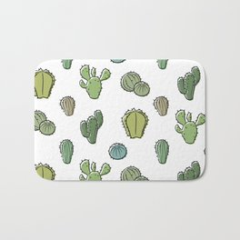 Cartoony Cacti pattern Bath Mat