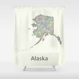 Alaska map Shower Curtain