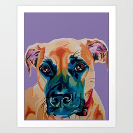 Sweetest Lady Boxer Art Print