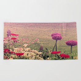 Summer Flowers in the Parc Beach Towel