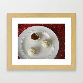 Gingerbread Cake Truffles Framed Art Print