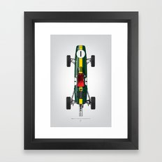 Outline Series N.º1, Jim Clark, Lotus 25-Coventry Climax 1962 Framed Art Print