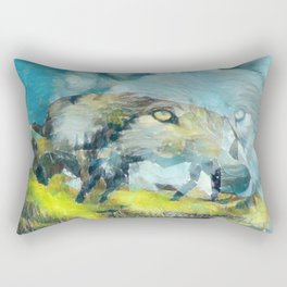 """ Brothers In Time "" Rectangular Pillow"