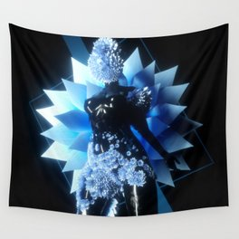 Abstract Flower Body Wall Tapestry