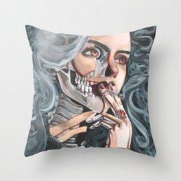 Mortality Throw Pillow
