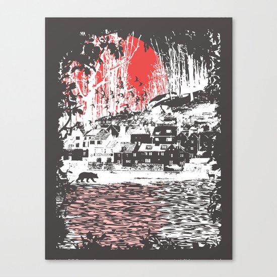 Cosmic Winter - Dark Canvas Print