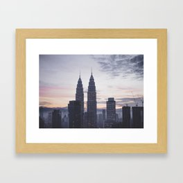 Kuala Lumpur in the dawn Framed Art Print