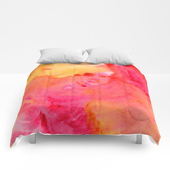 Peach flow Comforters