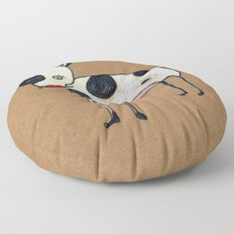 Bowie dog Floor Pillow