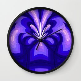Purple and Pink Fountain Wall Clock