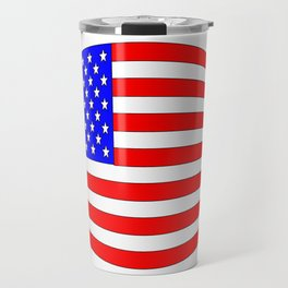 USA Stars and Stripes Flag Wide Travel Mug