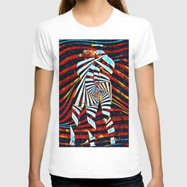 6805-LB Two Become as One Love Energy Abstraction T-shirt