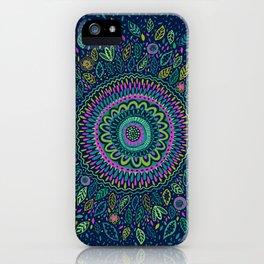 Midnight Garden Mandala iPhone Case