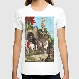 Prelude to a Hunt Landscape English Painting by Jeanpaul Ferro T-shirt