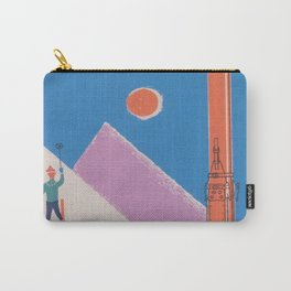 Switzerland Retro Vintage Ski Poster Carry-All Pouch
