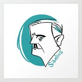 Jean Sibelius #4 Art Print