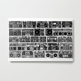 Sound of Wall Metal Print