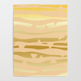 Golden Waves #Society6 #decor #buyart Poster