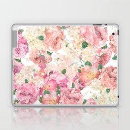 Flowers, Floral Explosion, Floral Pattern, Pink Flowers Laptop & iPad Skin