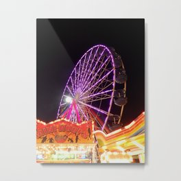 Ocean City Ferris Wheel Metal Print